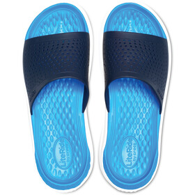 Crocs LiteRide Slides-sandaali, navy/white